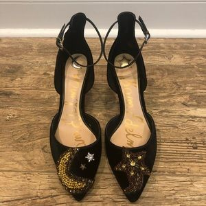 🆕 Sam Edelman Moon and Stars Heels size 9